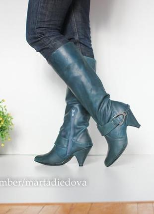 Кожаные ботинки сапоги, натуральная кожа, бренд lavorazione artigianale