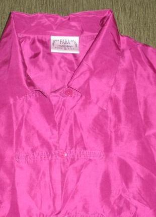 Шелковая блуза рубашка туника оверсайз silk papa 100% шелк /англ 12