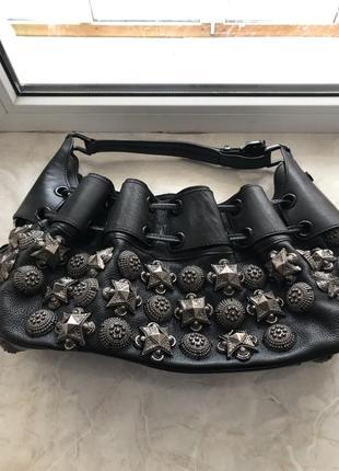 Очень крутая кожаная сумка
