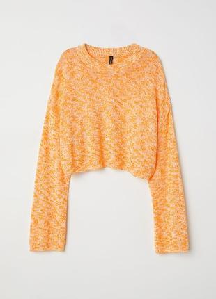 Укороченный свитер оверсайз h&m размер м джемпер кроп топ