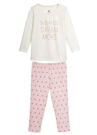 Пижама для  девочки pure collection  lupilu р. 110 - 116