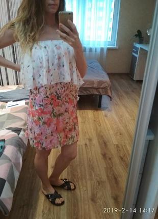 Новое шелковое платье-бра