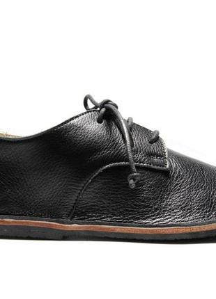 Туфли дерби женские из натуральной кожи