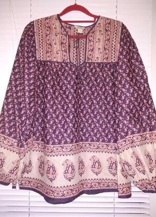 Шикарная рубашка с объемными рукавами из чистого хлопка от monsoon