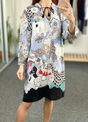 Красивое шелковое платье 40