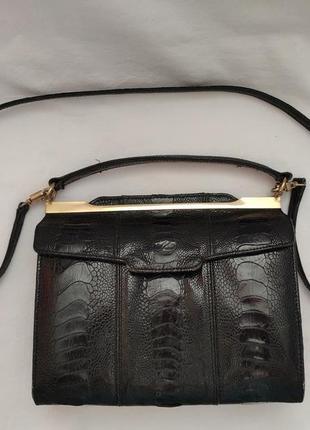Сумочка из кожи страуса cape cobra №2