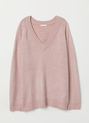 Новый фирменный теплющий джемпер/свитер оверсайз ангорка h&m, р. 54-56