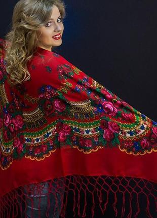 Платок украинский шерстяной