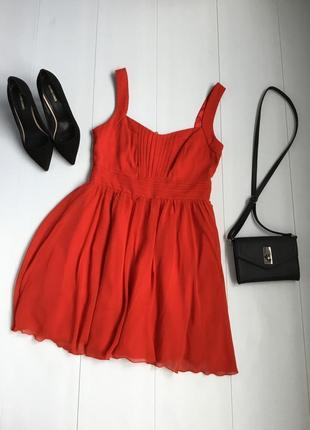 Шикарное красное платье от new look