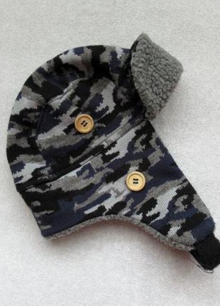 Теплая шапка на флисовой пдкладке