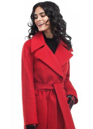 Обалденно-стильное  пальто без пуговиц,на запах definitions  80%шерсть