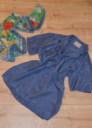 Шелковая блузка peter silk натуральный шелк накладные карманы