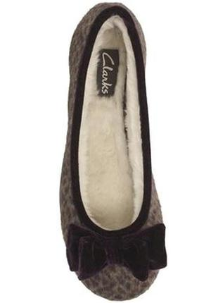 Тапочки clarks adella angel leopard womens slippers