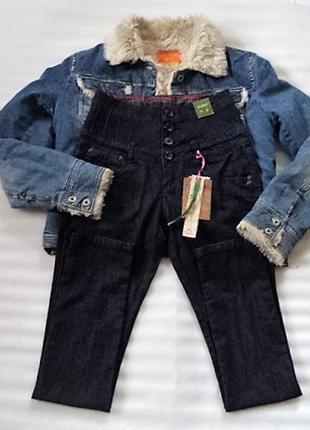 Элегантные джинсы скинни с корсетом 110 длина