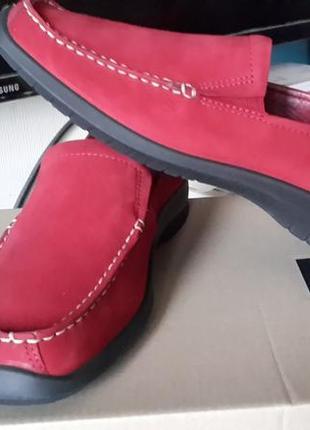 Новые ecco light оригинал кожаные туфли мокасины размер 37 ст.24