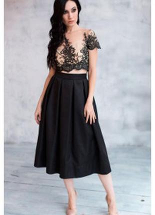 Экстравагантная очень красиво женственая юбка из полу льна