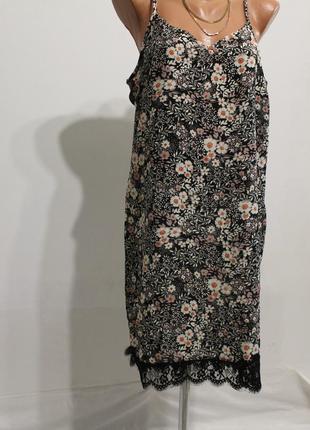 Красивое платье atmosphere в бельевом стиле с кружевом