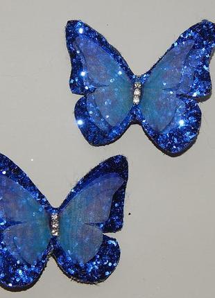 Заколки нежные шифоновые бабочки