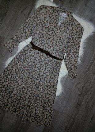Красивейшие 😱😍трикотажное миди-платье с кожаным пояском,v вырез
