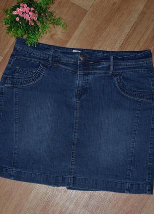 Стильная, батальная джинсовая юбка от etam fitt jeans basic collection