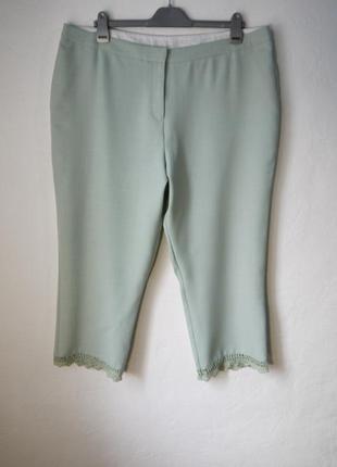 Укороченые летние брюки с кружевом
