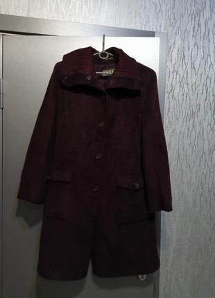 Пальто из шерсти и мохера италия