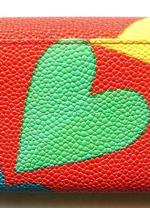 Большой кожаный кошелек скат love, винил + 100% натур. кожа, есть доставка бесплатно3