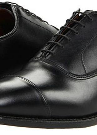 Черные кожаные туфли massimo dutti