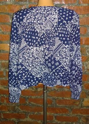 Блуза топ кофточка в бохо стиле marks & spencer2 фото