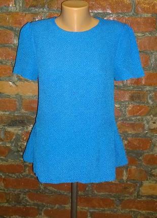 Блуза топ кофточка с баской из фактурного ткани austin reed