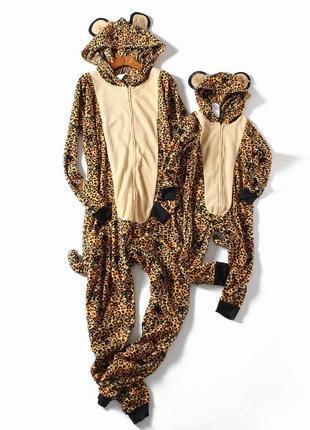 Пижама кигуруми леопард 1+1