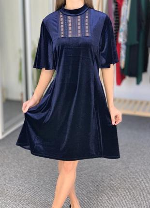 Красивое бархатное платье oasis 38