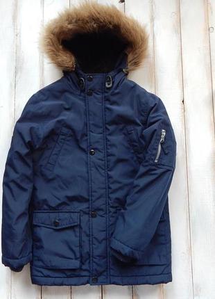 Rebel стильная зимняя  куртка -парка на мальчика  8-9 лет