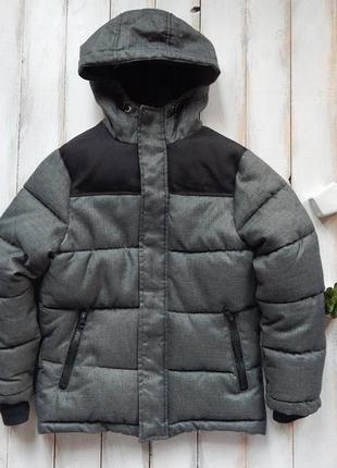 Rebel стильная зимняя куртка на мальчика 8-9 лет