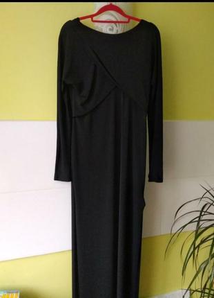 Шикарное вечернее макси платье с разрезами zara