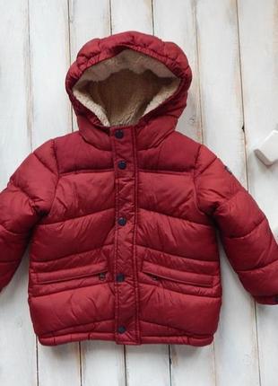 Zara  стильная зимняя куртка на мальчика  3-4 года