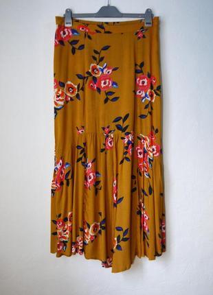 Длинная летняя вискозная юбка
