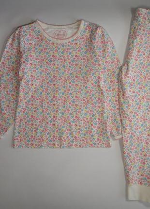 Пижама mothercare в цветы 5-6 лет, 116 см