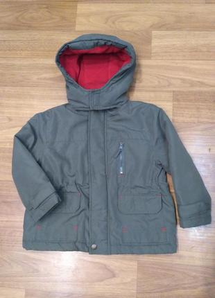 Rebel. демисезонная куртка цвета хаки, на возраст 2-3 года, 98 см