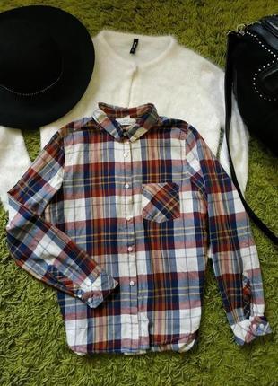 В наличии стильная тепленькая рубаха в клетку... h&m