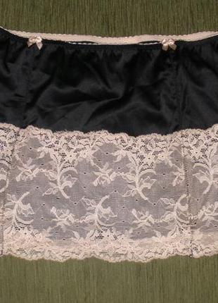 Красивая нижняя юбка с кружевом jennifer lopez /размер l