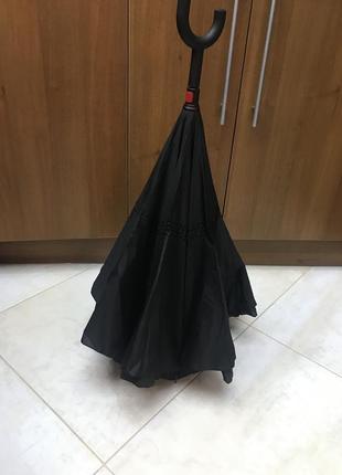 Зонт умный обратного сложения
