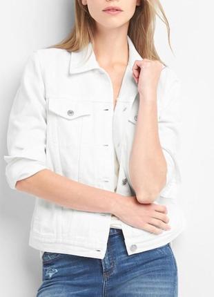 Куртка джинсовая белая от gap