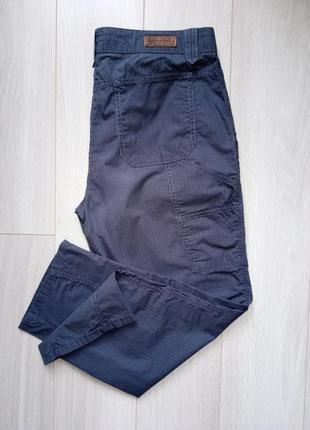 Темные серые в полоску брюки спортивные, повседневные, в спортивном стиле opus
