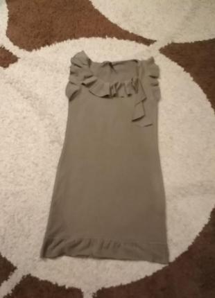 Летнее трикотажное платье naf naf