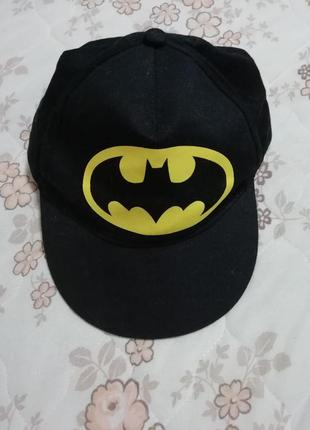 Кепка бейсболка мальчику batman размер 52-56см