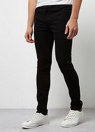 Мужские черные джинсы river island