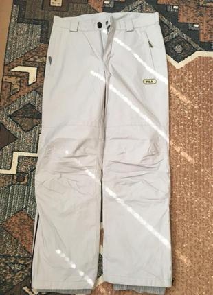 Лыжные брюки зимние fila термо штаны с биркой унисекс женские мужские новые m