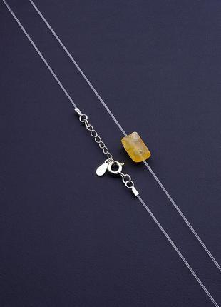 Подвеска 'sunstones' цитрин 40 см. серебро 925
