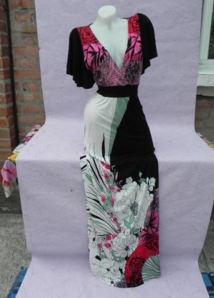 Шикароное длинное платье на высокую девушку m/l oasis